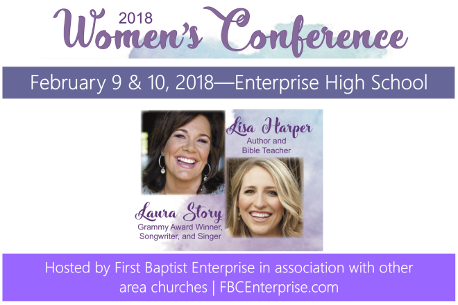 2018 Women's Conference with Lisa Harper and Laura Story - Enterprise