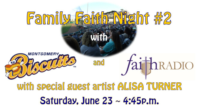 Family Faith Night #2 with the Montgomery Biscuits - Montgomery