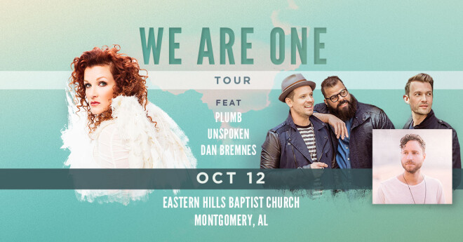 We Are One Tour with Plumb, Unspoken and Dan Bremnes - Montgomery