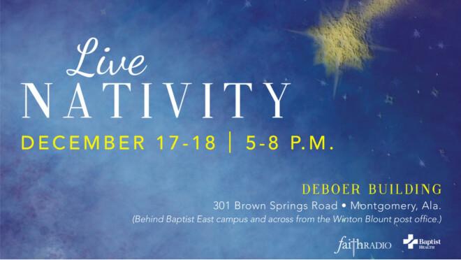 Faith Radio and Baptist Health Live Nativity - Montgomery